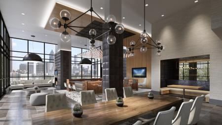 Resident Clubhouse | Penthouse Apartments in Atlanta | Modera Midtown